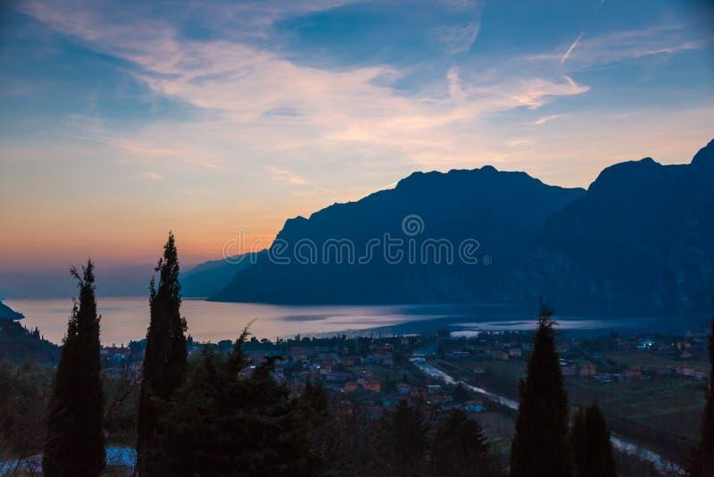 Download Garda lake sunset stock image. Image of nature, guarda - 52438177