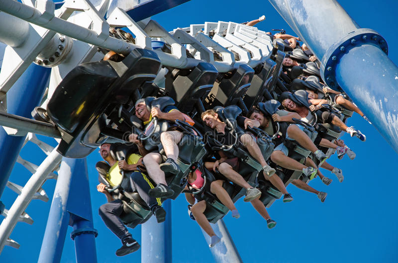 Gardaland Theme Park in Italy on August, 2013 royalty free stock image