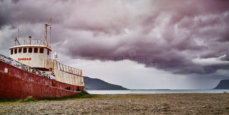 Gardar BA 64 ship wreck in Iceland royalty free stock images