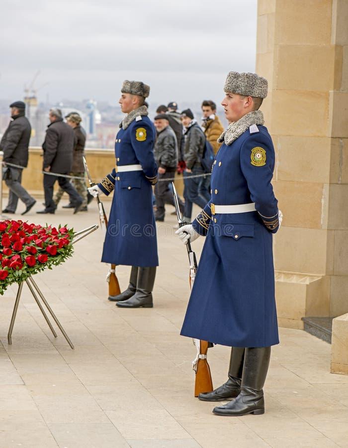 Garde d'honneur dans la ruelle des martyres photo stock