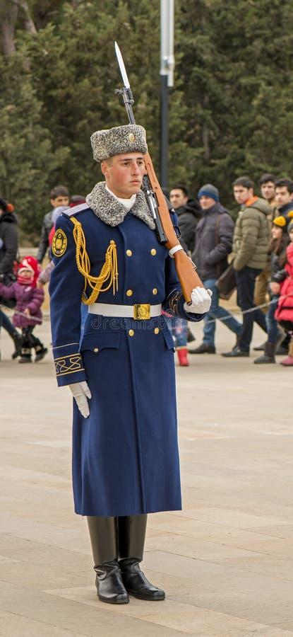 Garde d'honneur dans la ruelle des martyres image libre de droits
