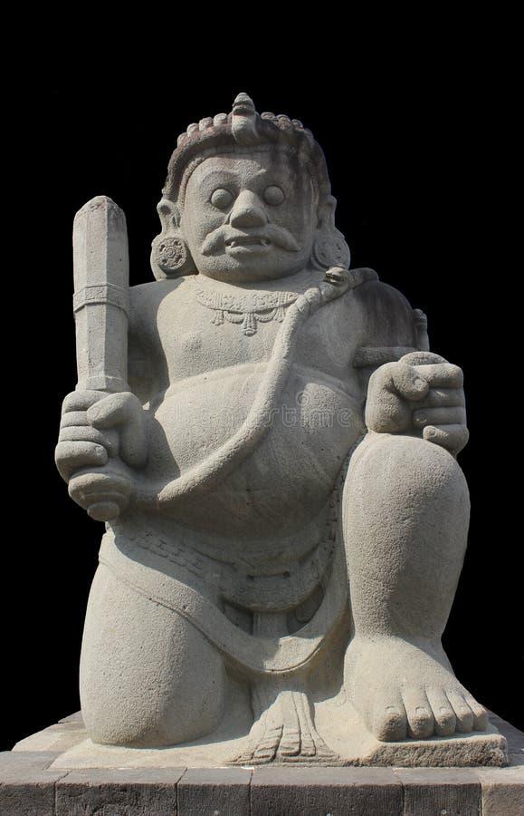 Garde de démon gardant la porte au temple photographie stock libre de droits