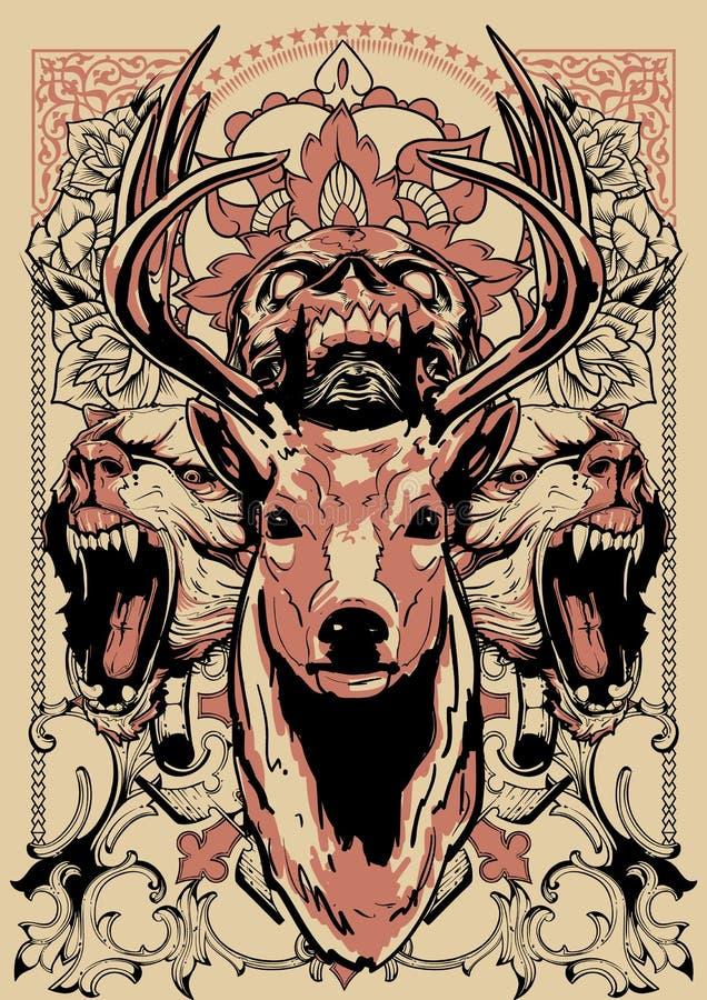 Garde de forêt illustration de vecteur