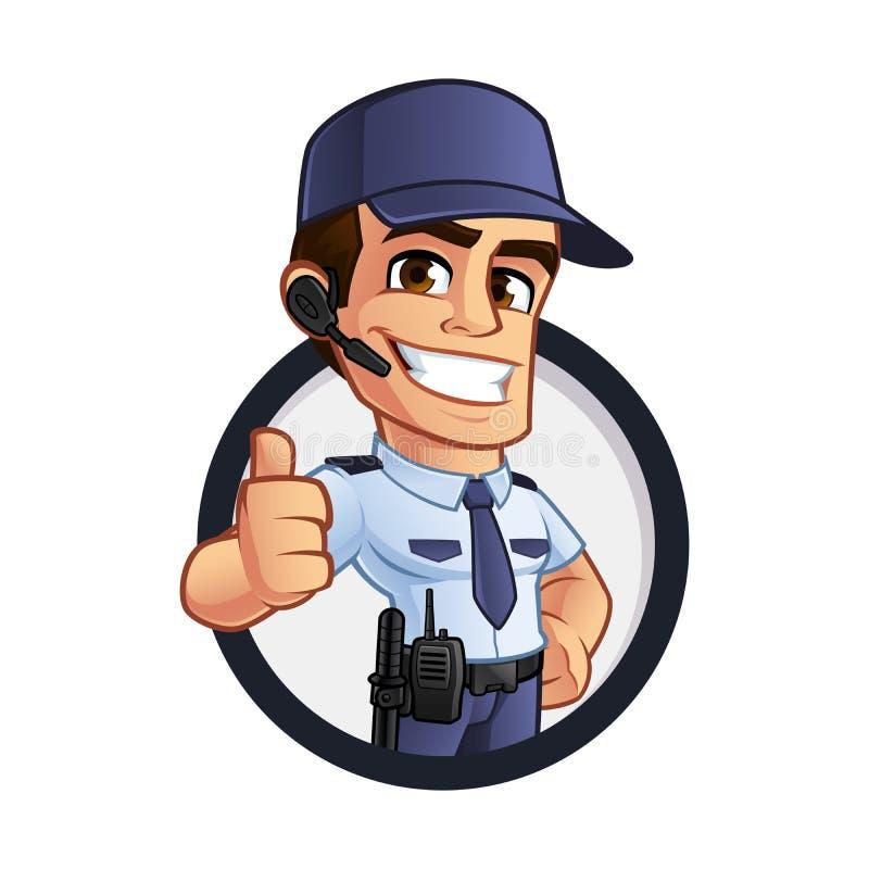 Garde de sécurité illustration stock