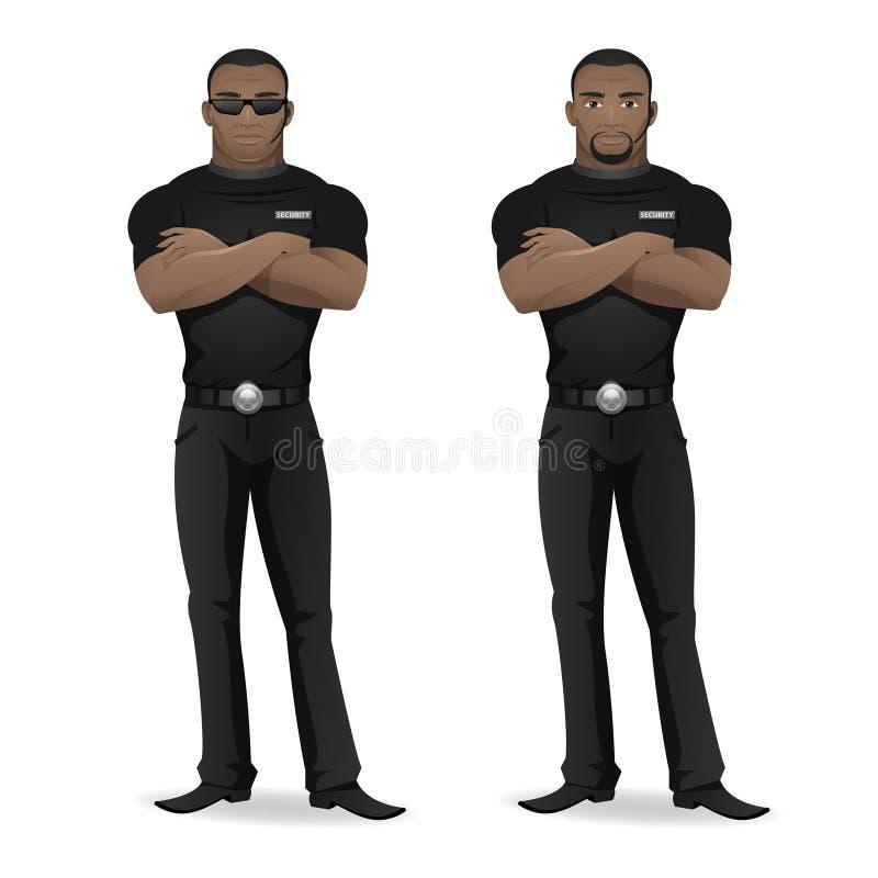 Garde de sécurité d'homme de couleur de boîte de nuit illustration libre de droits