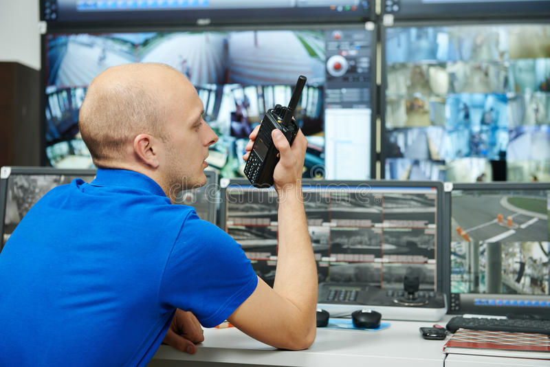 Garde de surveillance de vidéo de sécurité image libre de droits