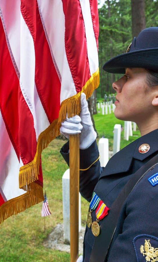 Garde et drapeau d'honneur photos libres de droits