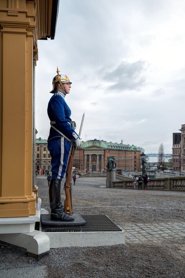 Garde féminine au palais de Stockholm, Suède photo stock
