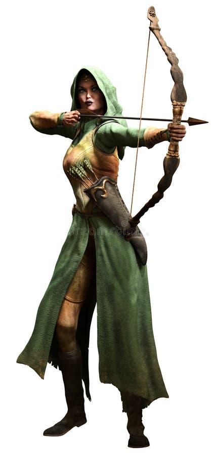 Garde forestière d'Elf illustration de vecteur