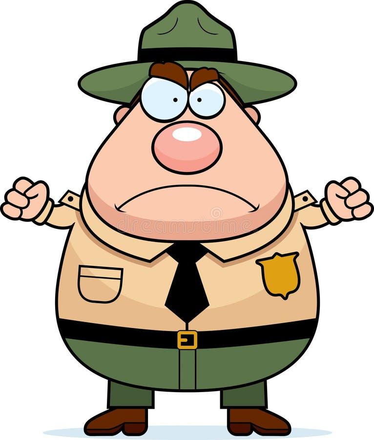 Garde forestier Angry illustration de vecteur