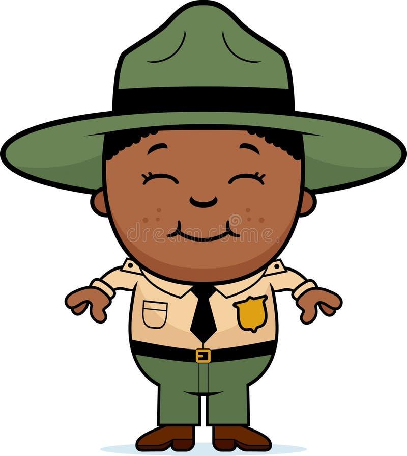 Garde forestier d'enfant illustration de vecteur