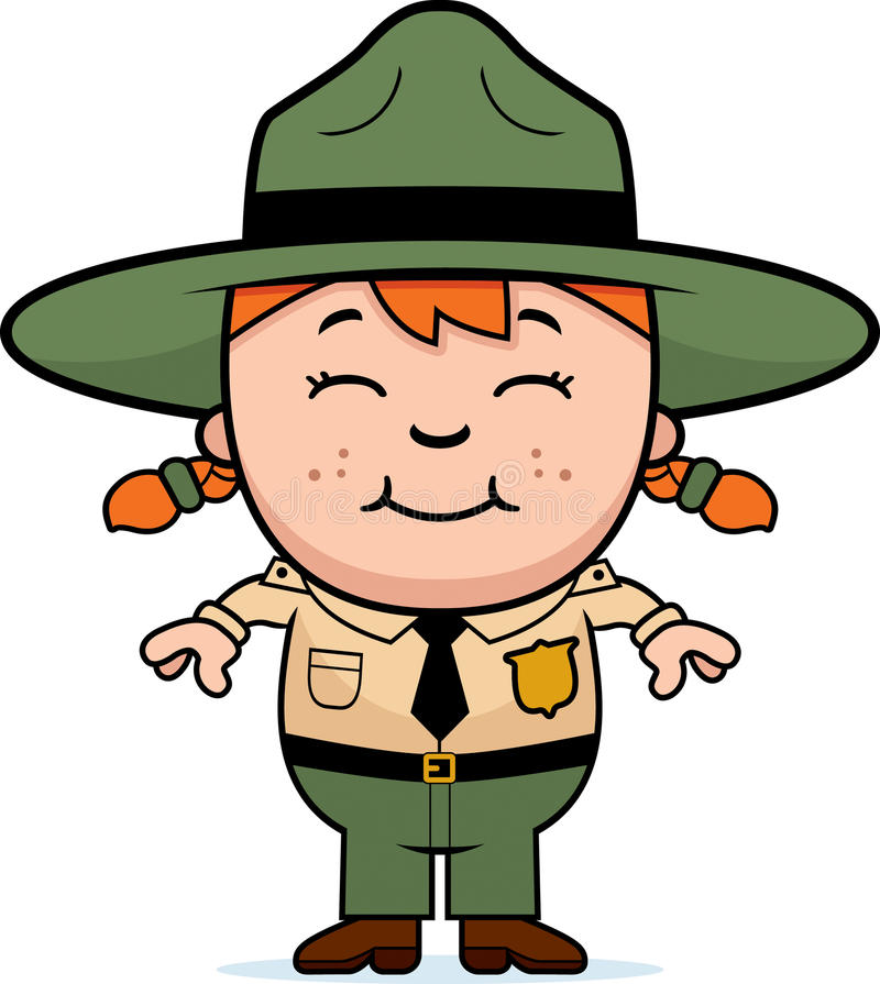 Garde forestier de fille illustration de vecteur