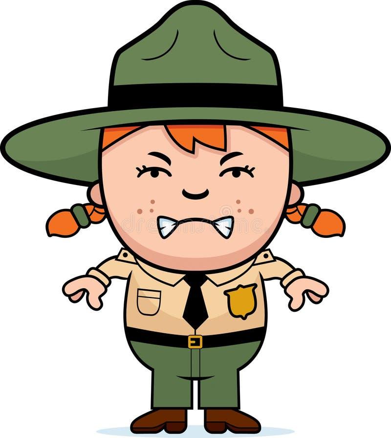 Garde forestier fâché d'enfant illustration libre de droits