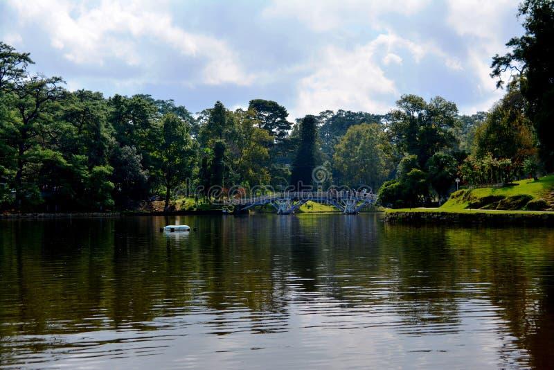 Garde le lac Sunny Sky image libre de droits
