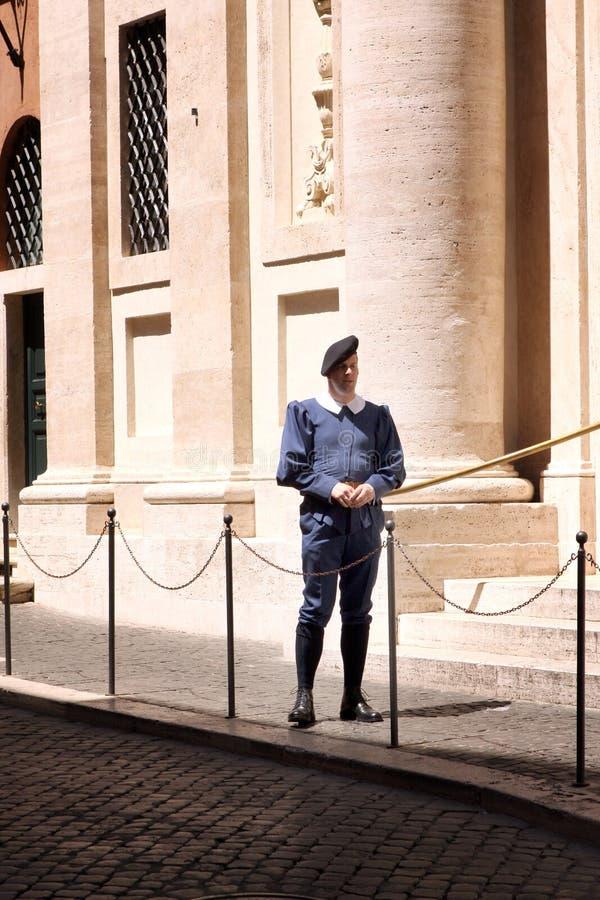 Garde suisse Vatican Rome Italy images libres de droits