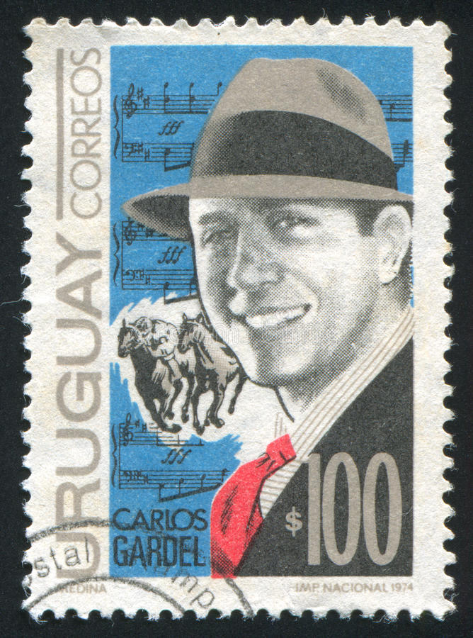 Gardel and Score royalty free stock photo