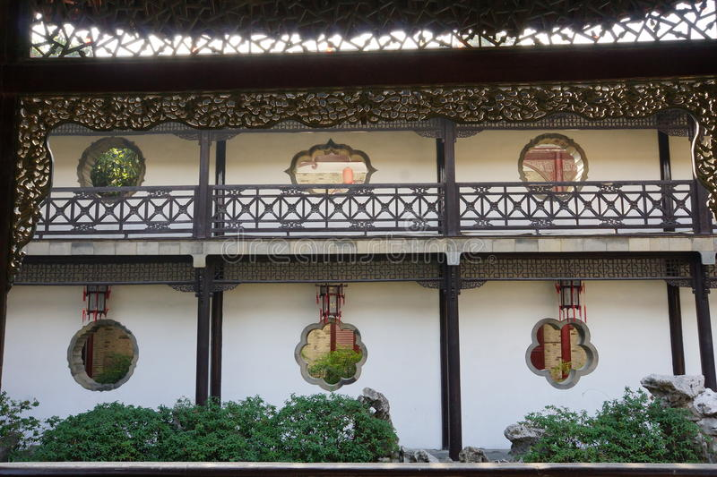 He Garden. National key cultural unit He Garden from the old town of Yangzhou, Qing Dynasty stock photography