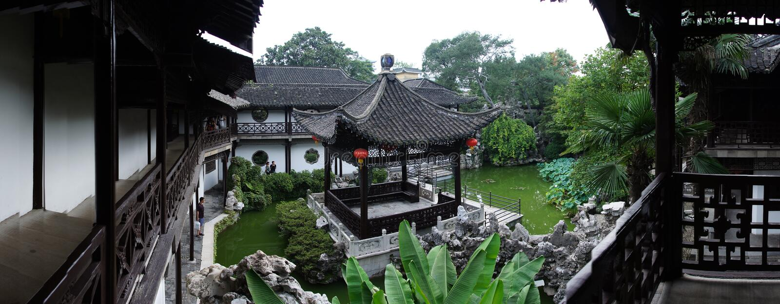He Garden. National key cultural unit He Garden from the old town of Yangzhou, Qing Dynasty, summer royalty free stock photos