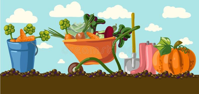Garden. stock illustration