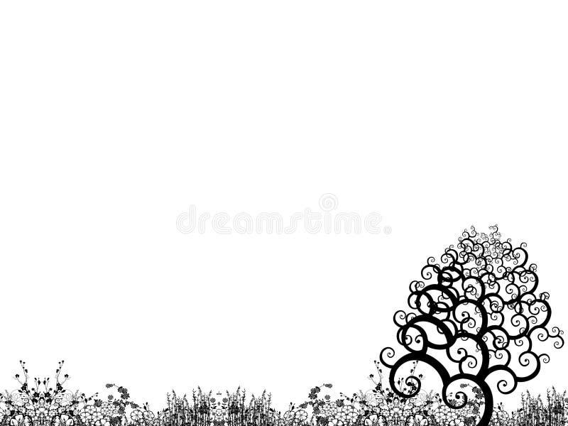 In the garden vector illustration
