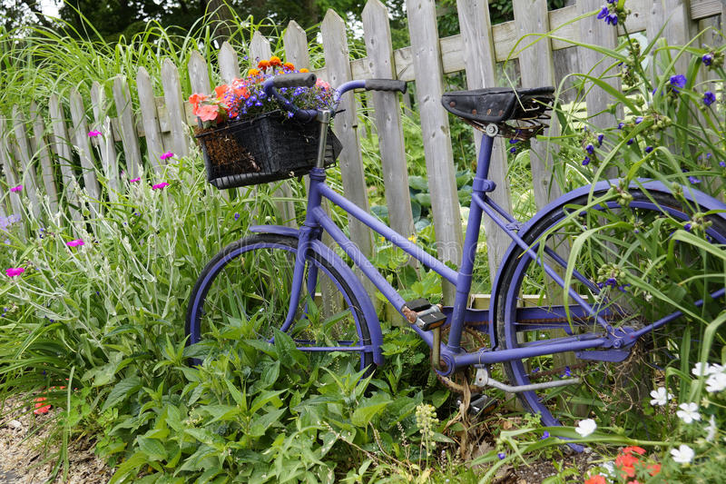 Whimsical Garden Accents stock image Image of handlebars 34614449