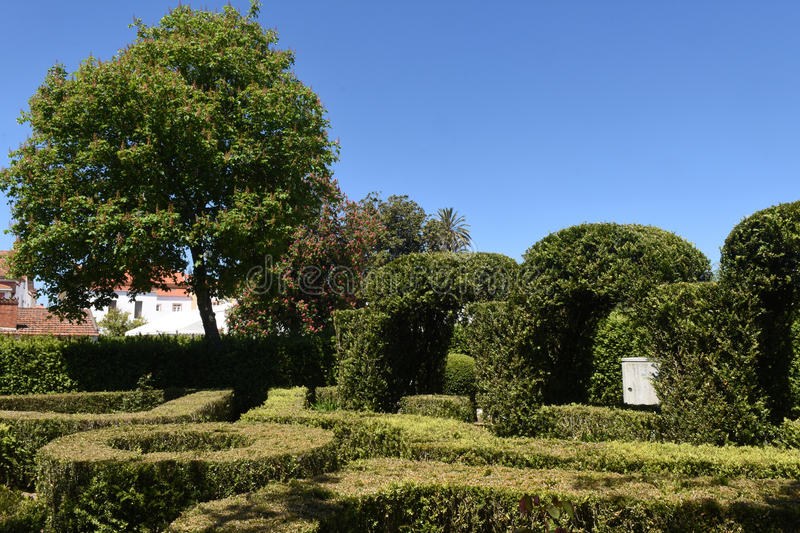 Garden of Alter Do Chao, Beiras region. Portugal stock image