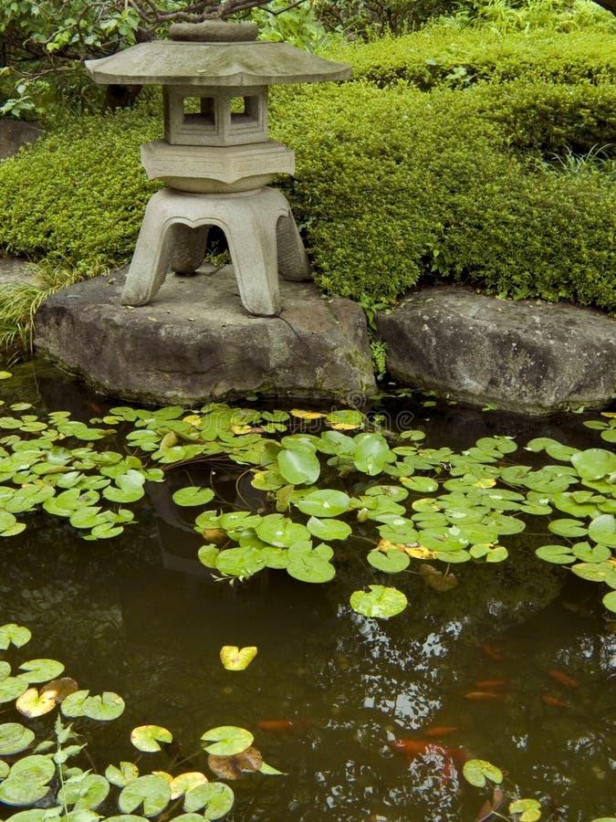 Garden&pond del zen fotografía de archivo