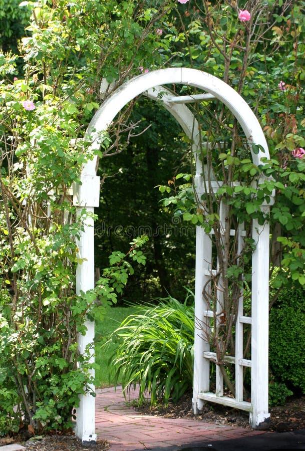 Garden Arbor. Gate or arbor into a garden