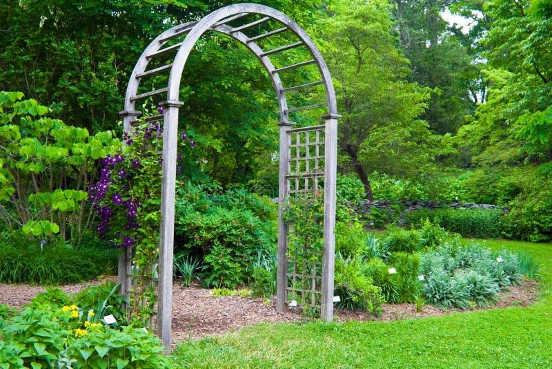 Garden Arbor stock image