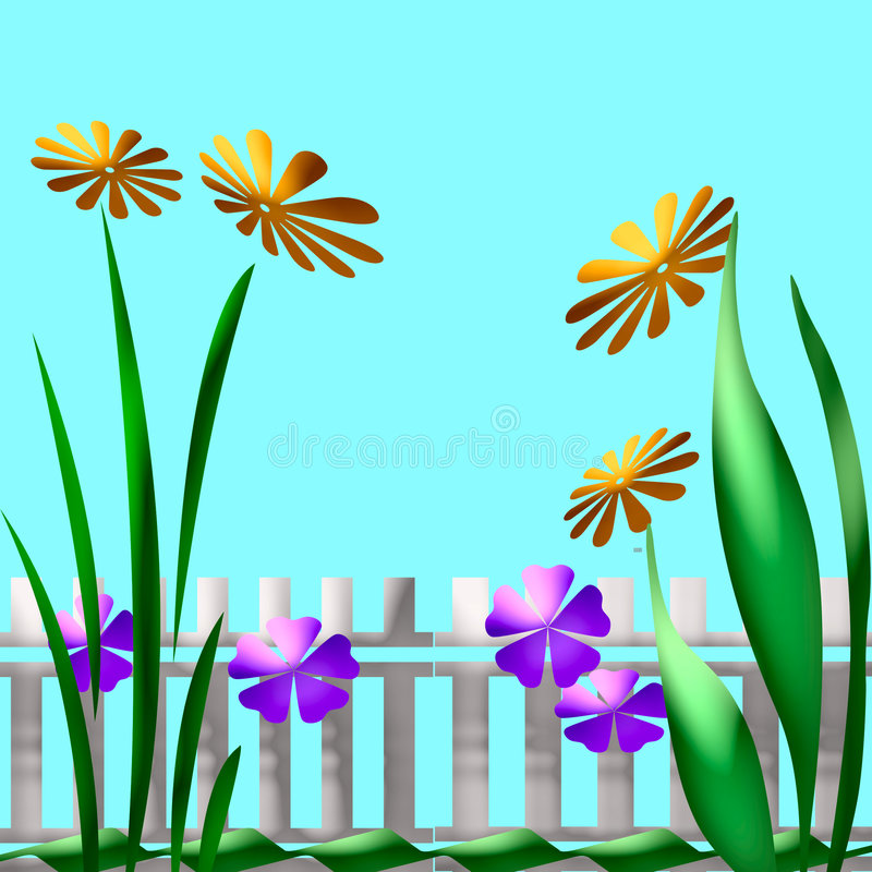 Download Garden art stock illustration. Image of abstract, fence - 1709250