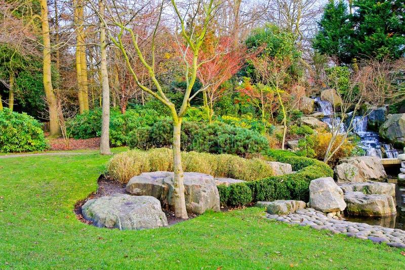 Garden at autumn royalty free stock photos