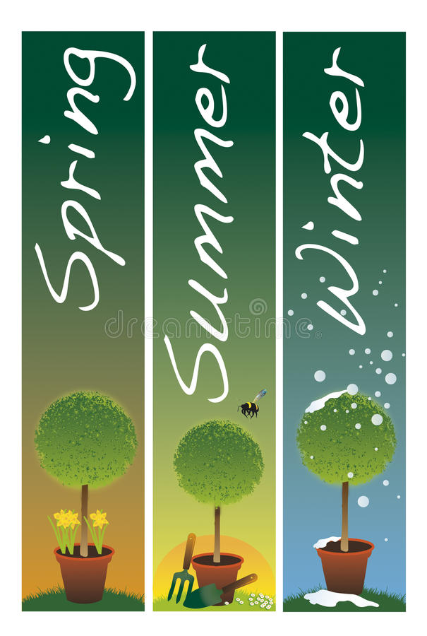 garden banners. Download Garden Banners Stock Illustration. Illustration Of Decorative - 13348789 O