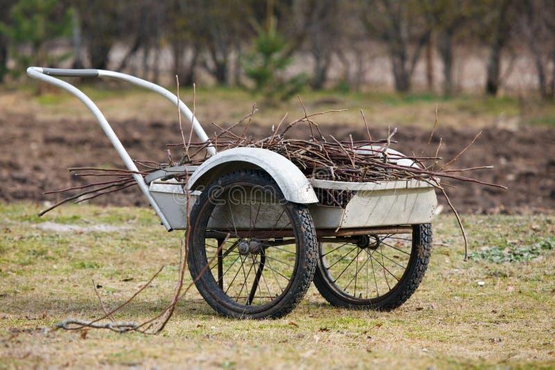 Garden barrow royalty free stock photo