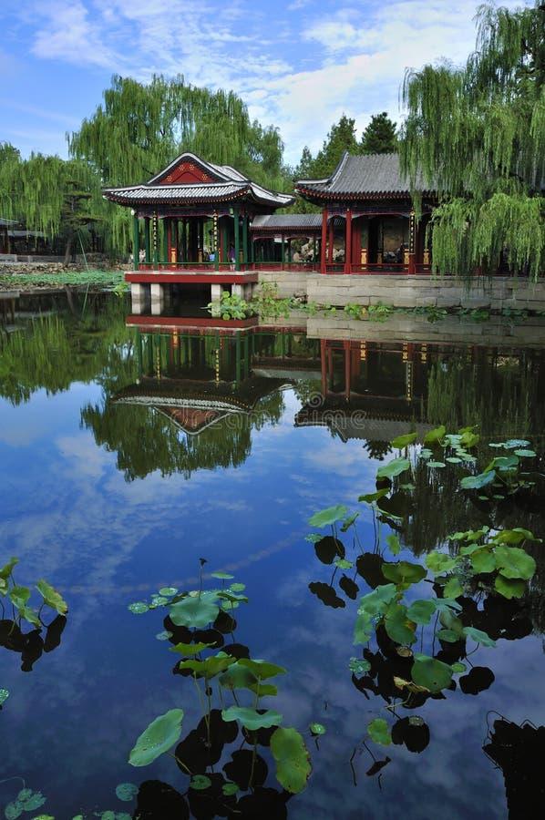 Garden in Beijing Summer palace stock photography