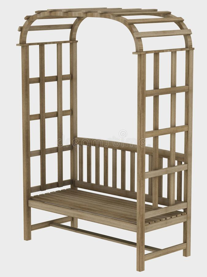 Download Garden bench stock illustration. Illustration of object - 13258828