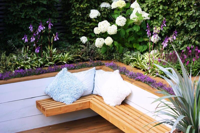 Download Garden bench stock photo. Image of cushion, laminate - 14402512