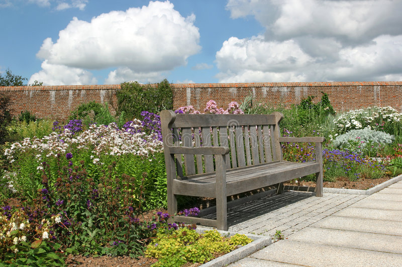 Download The Garden Bench stock image. Image of grass, outdoor - 3284275