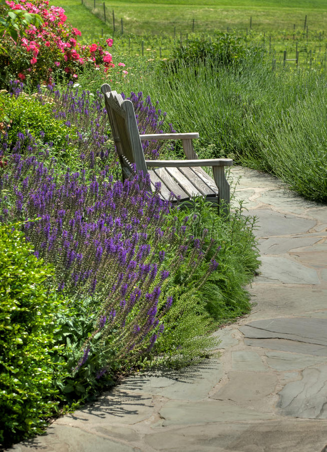 Download Garden bench stock image. Image of leisure, slow, beautiful - 9608837