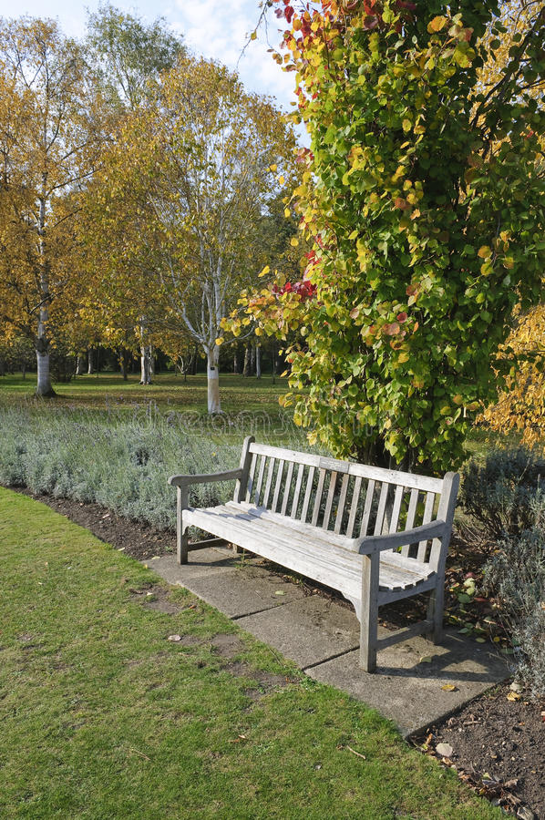 Download Garden Bench In Autumn Royalty Free Stock Photo - Image: 30563305