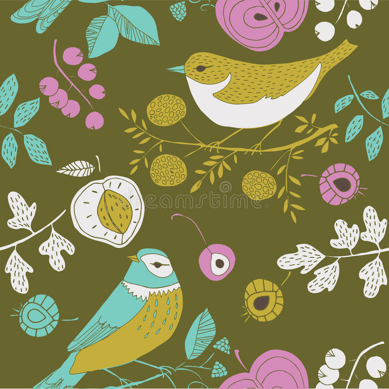 Free Garden Birds Deco Tile Stock Photo - 23800220