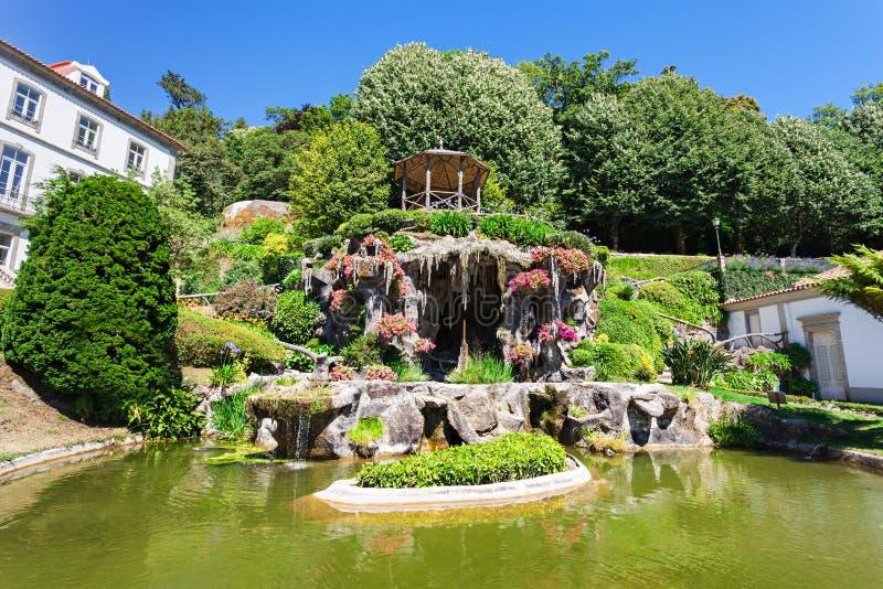 Garden at Bom Jesus. Do Monte is a Portuguese sanctuary near Braga, Portugal royalty free stock image