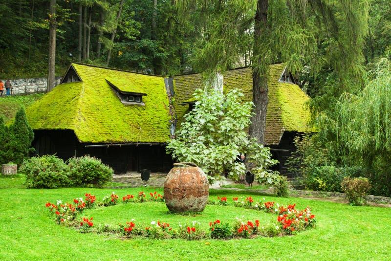 The Garden Of Bran Castle Stock Photo