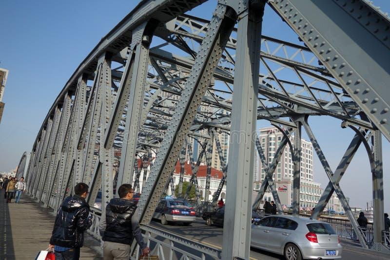 Garden bridge of Shanghai stock photography