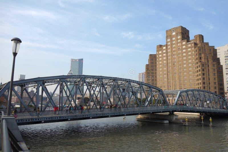 Garden bridge of Shanghai stock image