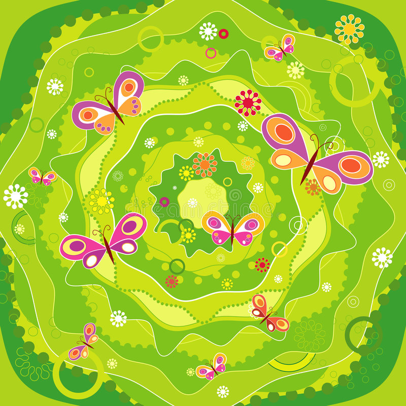 Download Garden With Butterfly,vector Stock Vector - Image: 1404769