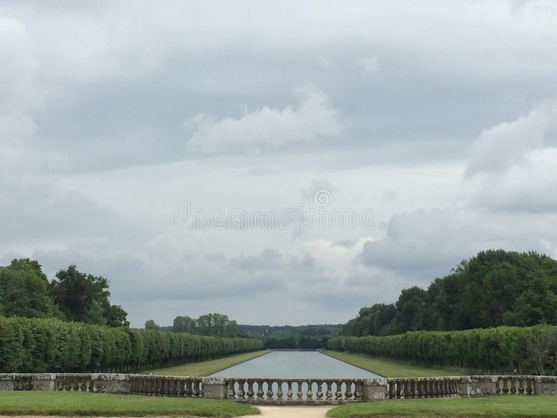 Garden of a castle in France royalty free stock photos