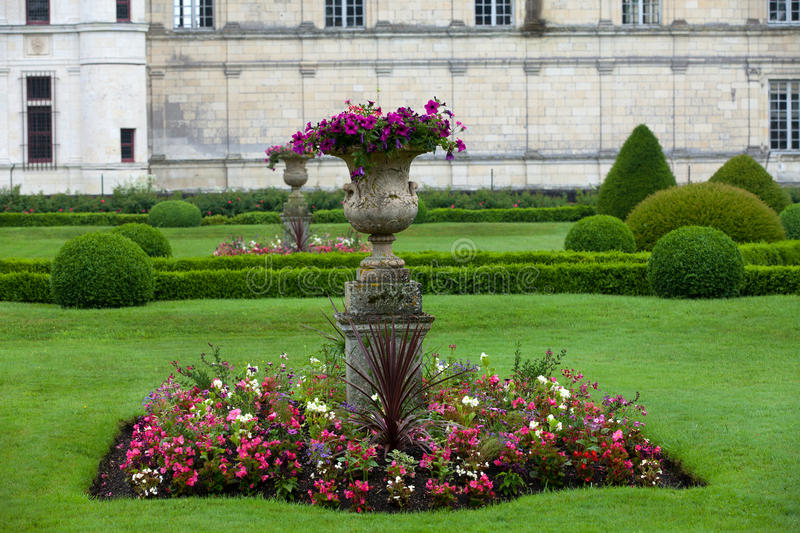 Garden and Castle of Valencay royalty free stock photo