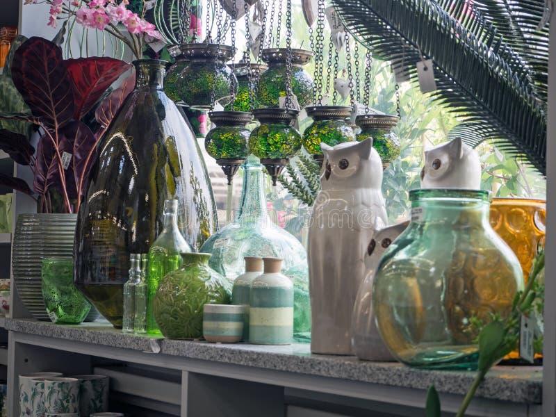 Garden Center, loja do jardim, parte da exposição fotografia de stock royalty free