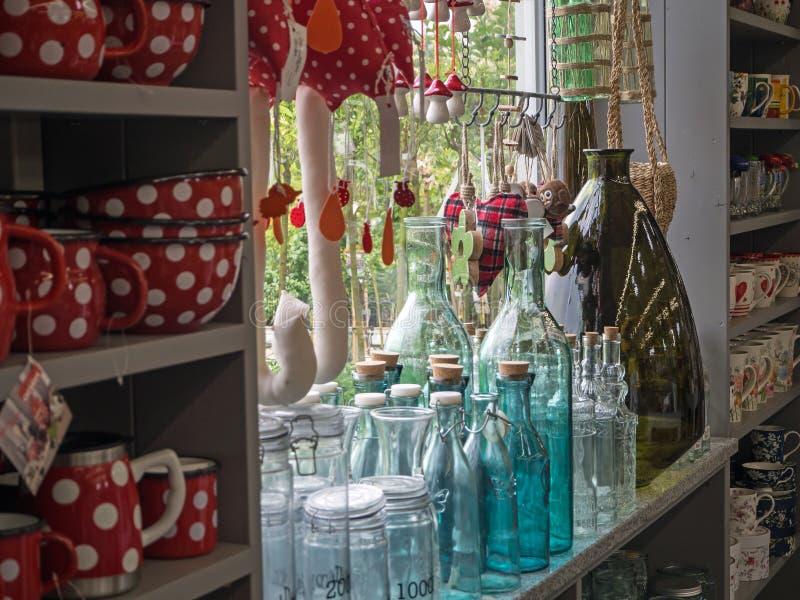 Garden center, garden store, part of the exhibition stock photos