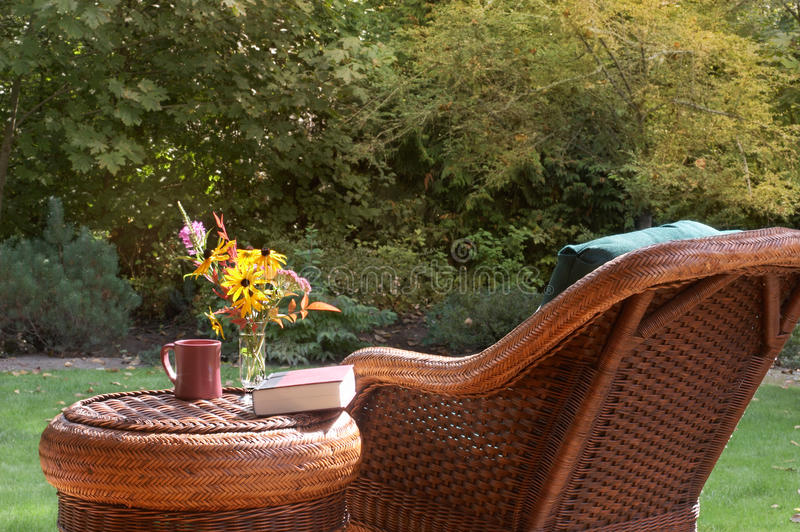 Download Garden chair in fall stock photo. Image of read, calm - 21600748